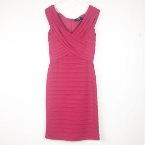 Tadashi Collection Size M Sheath Tiered Pink Dress